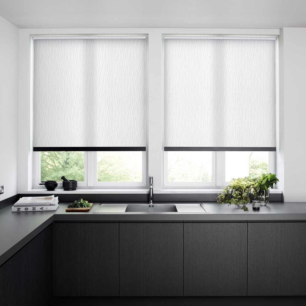 Aria Cape White London Roller Blinds