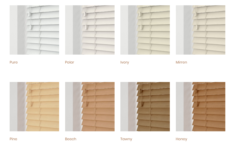 Essential Collection Wooden Venetian Blinds