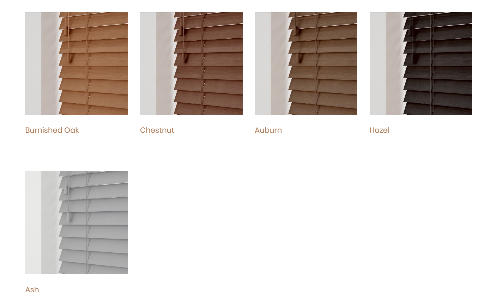 Essential Collection Wood Venetian Blinds