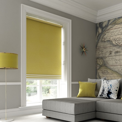 Estella Citrus Yellow Roller Blinds London