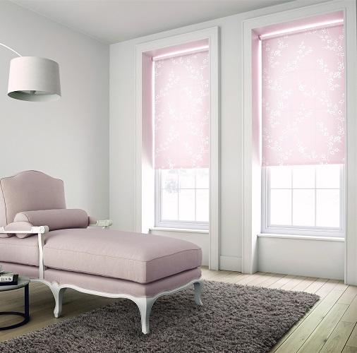 Farah Petal Pink Roller Blinds