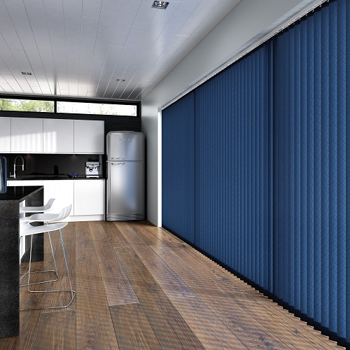 Medina Petrol Navy Vertical Blinds