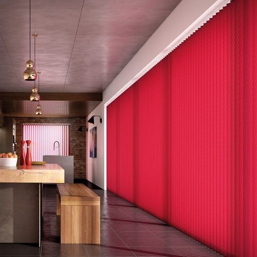Nera Scarlet Red Vertical Blinds