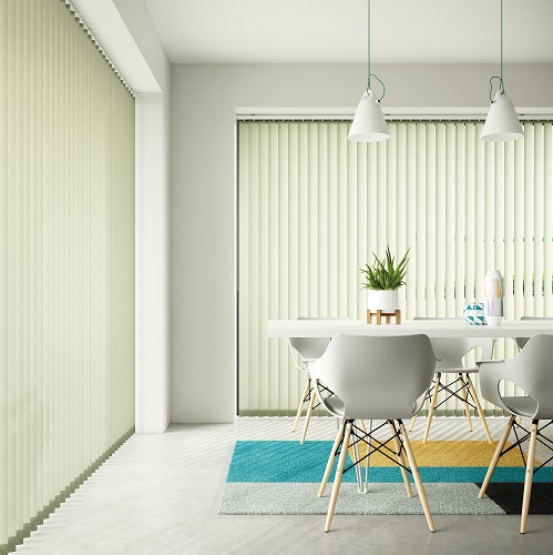 Seko Olive Pale Green Vertical Window Blinds