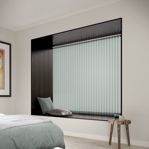 Splash Aspen Pale Blue Vertical Blinds for Windows