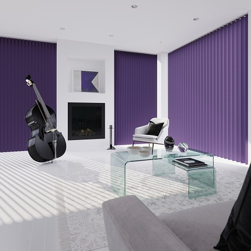 Splash Berry Purple Vertical Blind