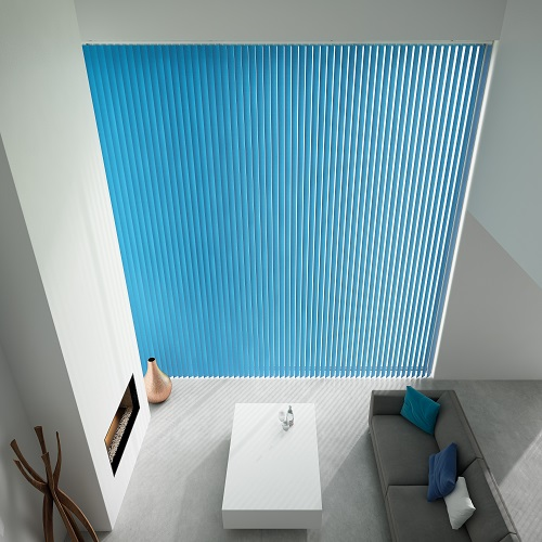 Unicolour Cyan London Vertical Blind