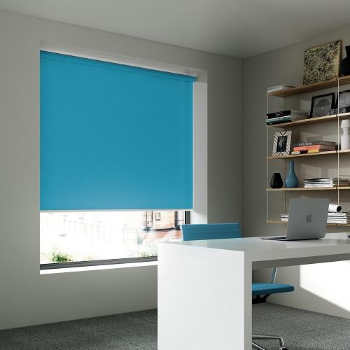 Unicolour Cyan Roller Window Blind