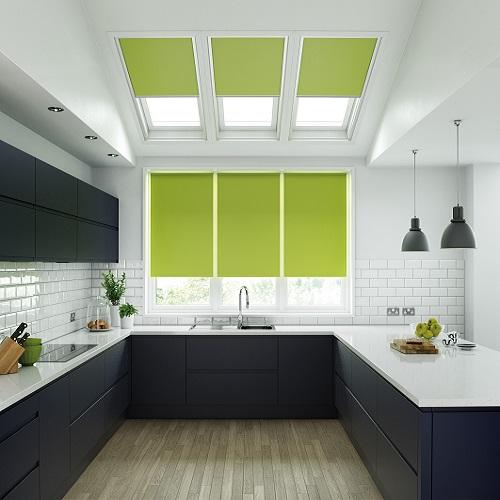 Unilux Lime Green Roller Blind London