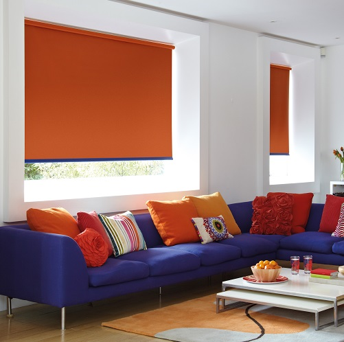Vitra Action Bright Block Colour Roller Blinds