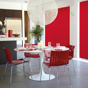 Vitra Flame Red Vertical Window Blind