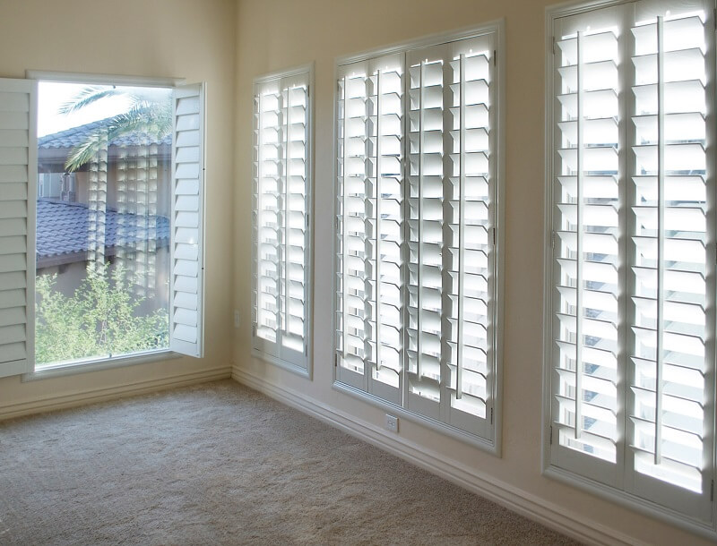 shutters in a room