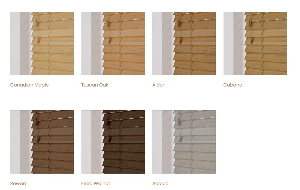 Soft Grain Collection Wooden Venetian Blinds London